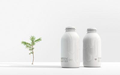 Die biobasierte Papierflasche